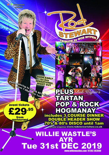 Bob Wyper's Rod Stewart Tribute. Tartan Pop and Rock Hogmanay