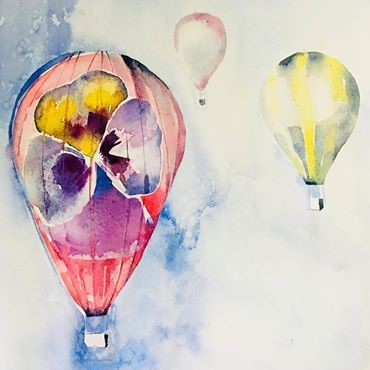 Hot Air Balloons Watercolour Workshop
