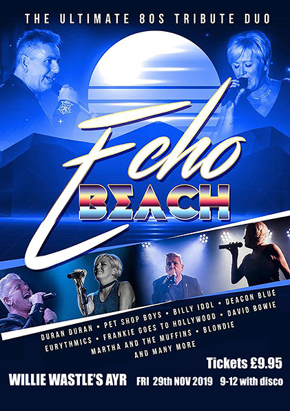 November Echo Beach - The Ultimate 80s tribute duo